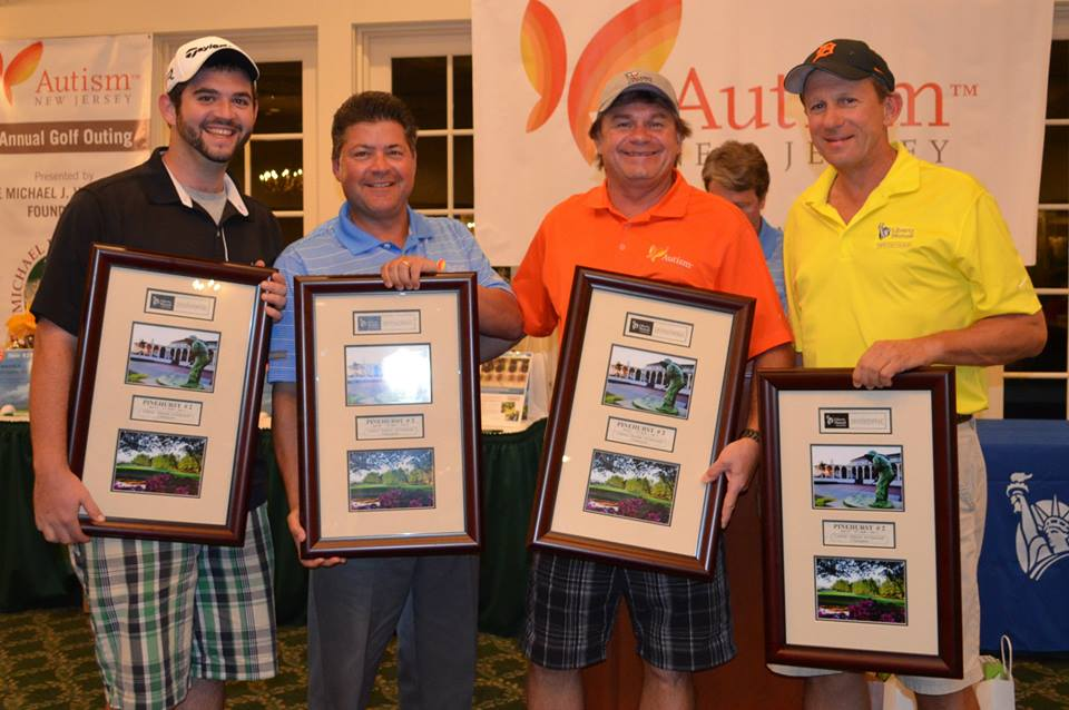 """Congratulations to the First Place Team on Banks Course -- Jake Caufield, Richard """"Uncle Rick"""" VanDeventer, , Robert Kettyle and Paul Caufield -- Members of Team Valiant."""