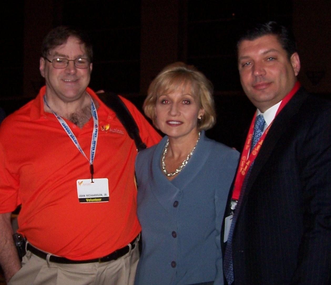 Autism NJ Self Advocate Advisory Board Member John Richardson, Lieutenant Governor Kim Guadagno, Autism NJ Board of Trustees President Jim Paone and Autism NJ Executive Director Dr. Linda Meyer.